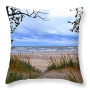 Big Waves On Lake Michigan 2.0 Throw Pillow