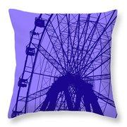 Big Wheel Blue Throw Pillow