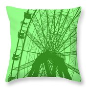 Big Wheel Green Throw Pillow