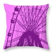 Big Wheel Purple Throw Pillow