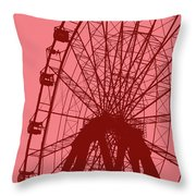 Big Wheel Red Throw Pillow