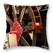 Big Wheels Keep On Turning Throw Pillow