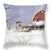 Big White Horse Throw Pillow
