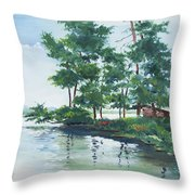 Big Wolf Lake Throw Pillow