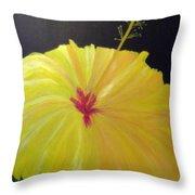 Big Yellow Hibiscus Throw Pillow