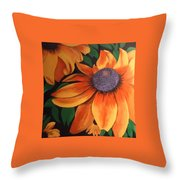 big yellow I Throw Pillow