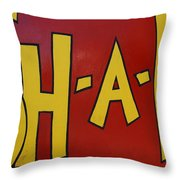 Big Yellow Letters Throw Pillow