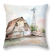 Bigelow's Barn Throw Pillow