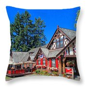 Bigfork Inn Throw Pillow