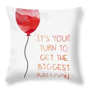 Biggest Balloon- Card Throw Pillow