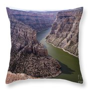 Bighorn Canyon Throw Pillow