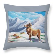 Bighorn Kam Throw Pillow