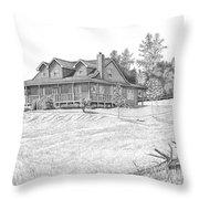 Bigness House Throw Pillow