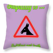 Spitting Bigstock Donkey 171252860 Throw Pillow