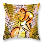 Bike And The City Throw Pillow