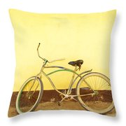 Bike And Yellow Wall Throw Pillow