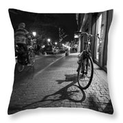 Bike Between Lights And Shadows, Netherlands Throw Pillow