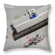 Bike Break Throw Pillow