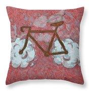 Bike-cloud Red - Da Throw Pillow