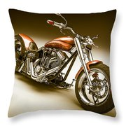Bike In Bronze Throw Pillow