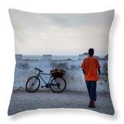 Bike In Essaouira Throw Pillow