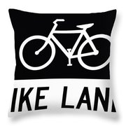 Bike Lane Throw Pillow