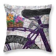 Bike Like #2 Throw Pillow