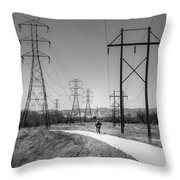 Bike Power On Platte Trail Throw Pillow