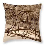 Bike Rack Throw Pillow