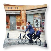 Bike Ride In Bordeaux By The Apollo Throw Pillow