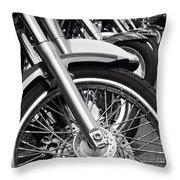 bike Riders  Throw Pillow