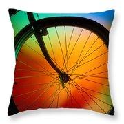 Bike Silhouette Throw Pillow