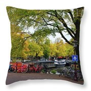 Bike To Boat Throw Pillow