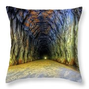 Bike Tunnel Throw Pillow
