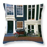 Bike With The Red Fenders Throw Pillow