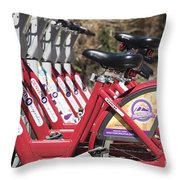 Bikes For Rent Throw Pillow