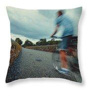 Bikes In Motion Near Durrow 1 Throw Pillow