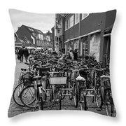 Bikes Of Skagen Throw Pillow