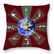 Bikram Yoga Throw Pillow