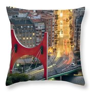 Bilbao Street Throw Pillow