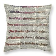 Bilbo Baggins Quote Vintage Art Throw Pillow
