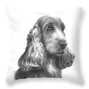 Bilbo Cocker Throw Pillow