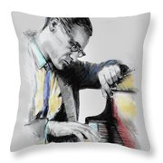Bill Evans Throw Pillow