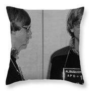Bill Gates Mug Shot Horizontal Black And White Throw Pillow