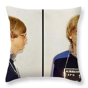 Bill Gates Post Impressionist Mugshot Throw Pillow