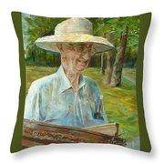 Bill Hines The Legend Throw Pillow