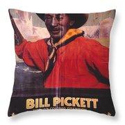 Bill Pickett (1870-1932) Throw Pillow by Granger