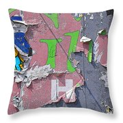 Billboard Abstract Butterfly Throw Pillow