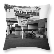 Billboard The Last Territory Tucson Arizona 1987 Throw Pillow