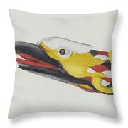 Billet Head: Eagle Throw Pillow